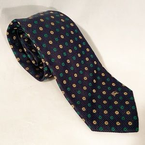 Vintage BURBERRY Burberrys Navy Silk Necktie Tie